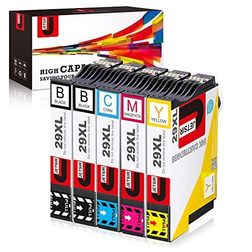 JETSIR 29XL Cartucce Compatibili per Epson 29 29XL per Epson XP-245 XP-255 XP-257 XP-235 XP-247 XP-332 XP-342 XP-345 XP-352 XP-355 XP-442 XP-452 XP-455 XP-335 (2 Nero, 1 Ciano, 1 Magenta, 1 Giallo)