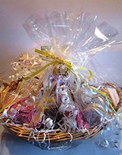 Paradise Pets DOG EASTER HAMPER WITH DOG SAFE EASTER EGG AND A SELECTION OF DELICIOUS DOG CHOC TREATS GIFT WRAPPED IN A BASKET WITH ENGRAVED GIFT TAG