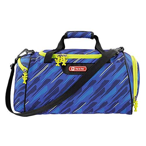 """Step by Step Sporttasche """"Soccer Team"""", blau/grün, mit Nasswäschefach, Abnehmbarer Tragegurt, Verstellbarer Schultergurt, für Jungen 1. Klasse, 13L"""