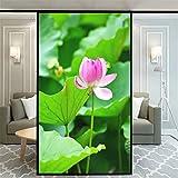 Xijier Hermosa flor decorativa para ventana, privacidad no adhesiva, vidrio esmerilado, para puerta, ventana, ventana, ventana, 40 x 80 cm