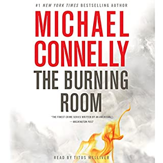 The Burning Room audiobook cover art