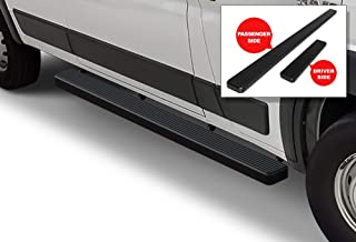 APS iBoard Running Boards 5in Black Custom Fit 2014-2020 Dodge ProMaster Full Size Van 136 inches 159 inches Wheelbase (Nerf Bars Side Steps Side Bars)