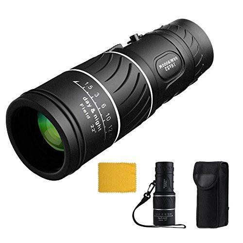 Zoom Cannocchiale 16x52 Telescopio Monoculare Zoom Ottico Bifocale Visione Giorno&Notte Monocolo Ideale per Caccia Campeggio Birdwatching Concerto dal vivo 66m / 8000m