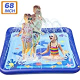 TEPSMIGO Splash Pad for Kids Outdoor 68' Sprinkler Mat Water Toys, Inflatable Kiddie Pool Boys Girls Yard Toys for Outside Activities, Toddler Wading & Learning, 3 Years Up