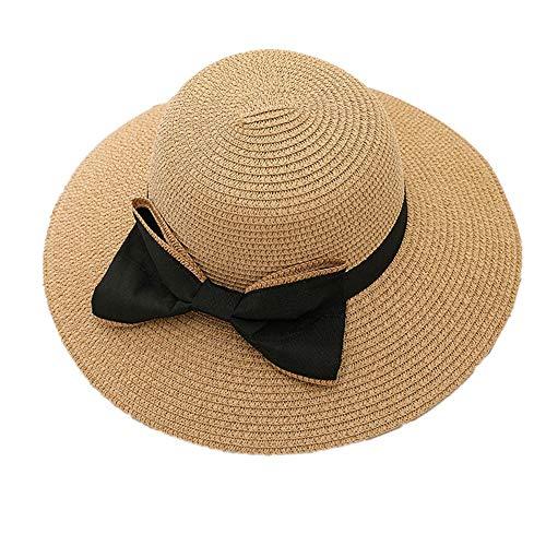 BOENTA Damenhut Sommer Sommer Hut Damen Strohhut Damen Strohhut Sommerhüte Für Frauen Breitkrempiger Sonnenhut Damen Strohhüte Für Frauen Khaki,Freesize