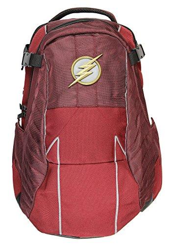 DC Comics The Flash Built Uniform Suit Comic Book Superhero Backpack Laptop Bag