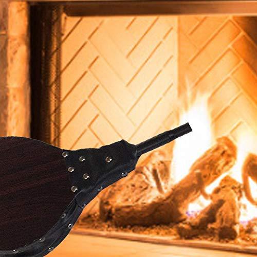 whelsara Fuelle de Chimenea de Madera, Fuelle Soplador de Aire de Mano para Chimenea Acampar Barbacoa Grill Camping Parrilla incredible