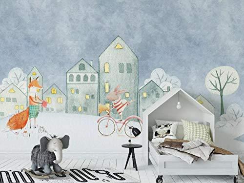Wandpapier Murales Fotomurale La Parete Minimalist Nordica Della prioriteit Bassa Della Casa Dei Bambini Dell'Dieren Della Poster Gigant Fotomurali wanddecoratie 140CMx100CM