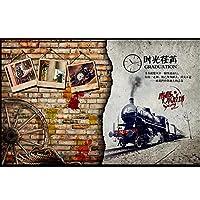 カスタム写真の壁紙壁の3d壁画壁紙3dヴィンテージ車の壁レンガバーレストランの背景装飾的な壁紙