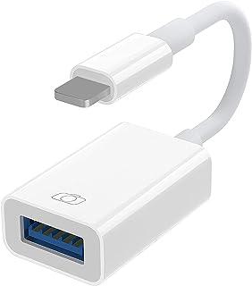 【最新進化版 USB 変換 アダプタ】USB3.0 変換アダプタ iPhone/iPad適用 OTGカメラアダプタ OTG機能 カメラ 高速データ転送 カメラカードリーダー ハブ キーボード カメラ マウス USB3.0 接続可能(白)