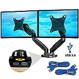 Ergosolid NB F160 Noir - Support Design Professionnel pour 2 écrans PC LCD LED...