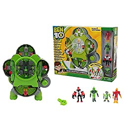 """The power of alien creation is in your hands! Create your own custom 3"""" mini figures by mixing and matching alien body parts. Select and combine the parts inside the Omnitrix-inspired chamber, and then launch the fully formed and articulated alien fi..."""