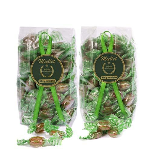 500 gr (PACK 2 BOLSAS x 250 gr) - Miellet - Miel & Eucaliptus - Caramelos artesanales con miel de origen español. Suaviza la garganta, evita la tos y contiene propiedades antisépticas. SIN GLUTEN