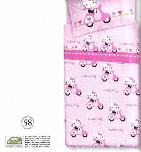 Hello Kitty Scooter completo edredón sábanas almohada rosa una plaza Gabel Sanrio