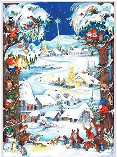 Sellmer - Calendario dell'Avvento con nani e villaggio innevato
