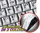 COMMODORE 64 NON-TRANSPARENT KEYBOARD LABELS LAYOUT BLACK OR WHITE BACKGROUND FOR DESKTOP, LAPTOP AND NOTEBOOK...
