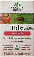海外直送品Organic Tulasi Tea, Red Mango 18 ct by Organic India