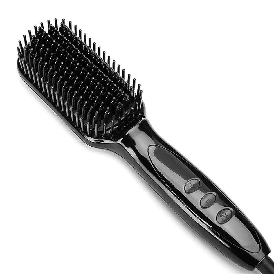 結果としてセイはさておき不名誉なFashianのひげのストレートナの髪の櫛、専門の速いひげのストレートナのスタイラーのヘアブラシの人のスタイリングの櫛 モデリングツール (色 : 黒)