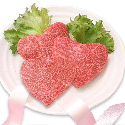 [肉贈] 飛騨牛 かわいい ハート型 赤身 モモ ステーキ 100g × 3枚 A5 A4(2?3名様用)敬老の日