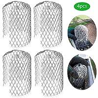 HELEVIA - Protector de canalón para filtro de lluvia de hojas (4 unidades)
