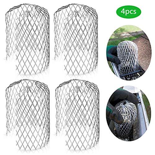 Hanwuo Dachrinnenschutzgitter, leichter Aluminium-Dachrinnenfilter, Fallrohrschutz für Laub- und Regenfilter