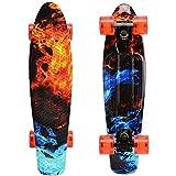 WonderTech Mini Skateboard Kinder 22 Zoll Penny Board Jungs 22 Inches Cruiser Board 57 cm, Mädchen...
