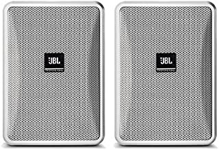 JBL Control 23-1 3 Inches Ultra-Compact Indoor Outdoor Speakers - White, Pair