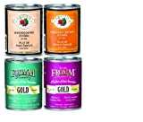 Fromm Canned Dog Food Mixed 13oz x 12 cans - Shredded Chicken Entree, Shredded Pork Entree, Salmon & Chicken Pate, and Duck & Chicken Pate