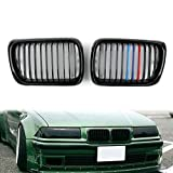 Areyourshop nero opaco frontale Rene grill mesh Grille per E361997–19993Series