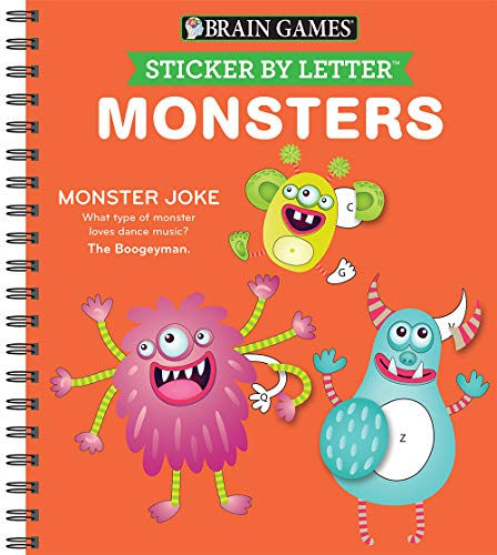 Brain Games - Sticker by Letter: Monsters (Sticker Puzzles - Kids Activity Book)