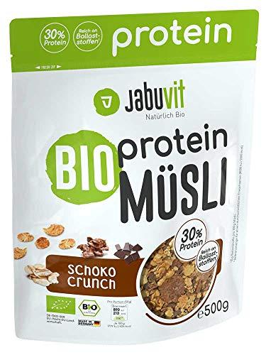JabuVit Bio Protein-Müsli - 30% Proteinanteil - 500g Schoko Crunch