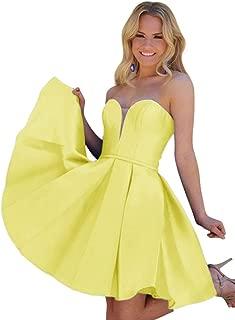 Jonlyc Varidress A-Line Sweetheart Satin Short Homecoming Dresses Graduation Party Gowns