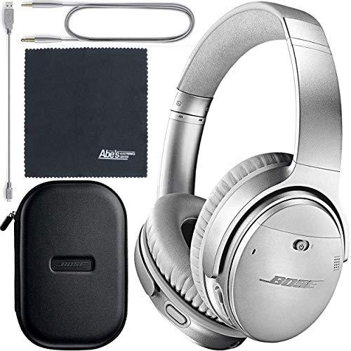 Bose QuietComfort 35 Series II Wireless Noise-Canceling Headphones - Silver (789564-0020) + AOM Bundle - International Version