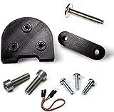 Mfs Myfuturshop® Kit Piezas para Usar Ruedas de 10 Pulgadas en Patinete Xiaomi m365 y Pro, Levanta el Guardabarros y el Caballete, Accesorio Espaciador para neumáticos Grandes. Negro