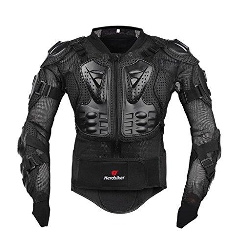 Fastar Chaqueta de Moto,Chaqueta Protectora - Profesional de Motocicleta Protección del Cuerpo Motocross Racing Armadura de Cuerpo Entero Spine Chest (Negro, XXL)…