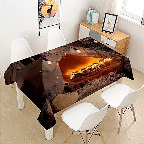 XXDD Mantel de Camping Mesa de Picnic Rectangular luz Cubierta de Mesa de Lujo Lavable Mantel de decoración de Mesa para el hogar A4 150x210cm