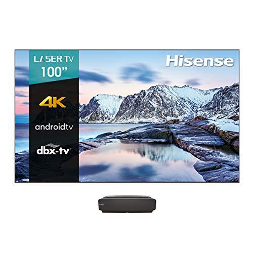 Hisense Laser TV 100' L5F Android TV 4K UHD, HDR10, dbx-TV (100L5F, Instalación Incluida)