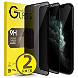 Privacy Screen Protector for iphone Xs Max and 11 Pro Max XYYZYZ 6.5 Inch Full Coverage Dark Anti Spy Tempered Glass with Installation Frame 9H Hardness Scratch Proof【2 Pack】-Black