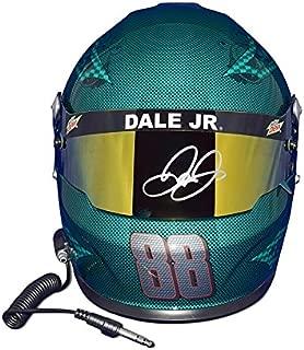 AUTOGRAPHED 2017 Dale Earnhardt Jr. #88 Mountain Dew Racing RETIREMENT FINAL SEASON (Monster Energy Cup Series) Green Skull Design Signed Lionel NASCAR Replica Full-Size Helmet with COA