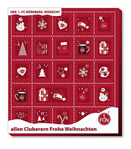 Adventskalender, Weihnachtskalender deines Bundesliga Lieblingsvereins - und Sticker Wir Leben Fußball Fairtrade (1. FC Nürnberg)