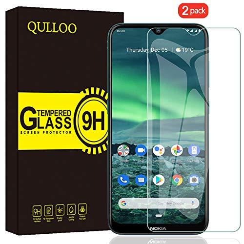 QULLOO Panzerglas für Nokia 2.3, 9H Hartglas Schutzfolie HD Bildschirmschutzfolie Anti-Kratzen Panzerglasfolie Handy Glas Folie für Nokia 2.3