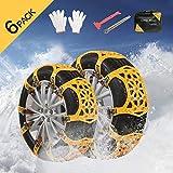 Snow Chains - Anti SlipSnow Chain Tire Traction Chain Anti-Skid Emergency Snow tire Chains for Sand Mud Snow Light Trucks/ATV/SUV Tire Width 165-275mm/6.4-10.9