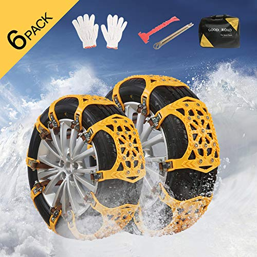 Snow Chains - Anti Slip Snow Chain Tire Traction Chain Anti-Skid Emergency Snow tire Chains for Sand Mud Snow Light Trucks/ATV/SUV Tire Width 165-275mm/6.4-10.9