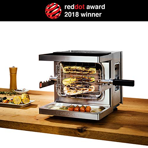 GREADEN Mini Barbecue à Gaz Mobile Beef Chef - Red Dot Award Allemand...