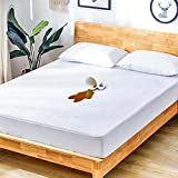 """Mattress Protector Twin Waterproof Mattress Cover Bed Mattress Protector Cotton Terry Breathable Noiseless Machine Washable Matressprotector Fitted 14"""" Deep Pocket for Pets Kids Adults 38"""" x 75"""""""