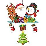 Adornos navideños Navidad Centro Comercial Hotel Festival Creativo Adornos Bar Escaparate Decoración Tire Bandera Colgante Adornos navideños (Color : B)