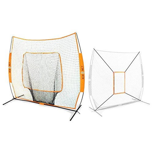 Bow Net Baseball/Softball Big Mouth Portable Net w/ Bow Net Strike Zone Accessory