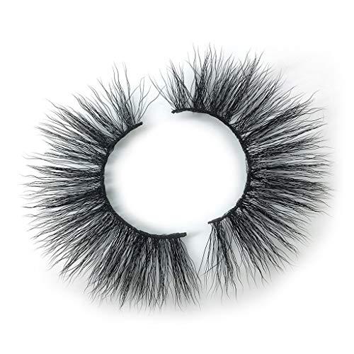TOPSELD 1 Paire Falsche Wimpern Fluffy-Streifen Wimpern Lange natürliche Partei Makeup Las