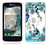 FUBAODA für Lenovo A5000 Hülle, [Schmetterling] Künstlerische Malerei-Reihe TPU Case Schutzhülle Silikon Case für Lenovo A5000