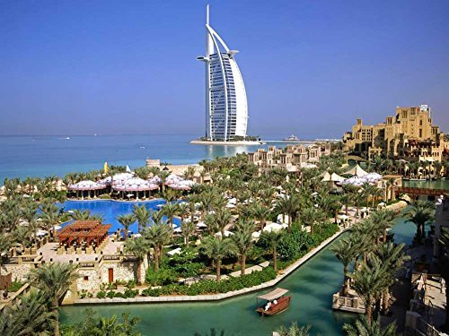 YYone 500 Piece Wooden Jigsaw Puzzle Burj Al Arab Hotel Dubai Large Puzzle Game for Adults and Teenagers